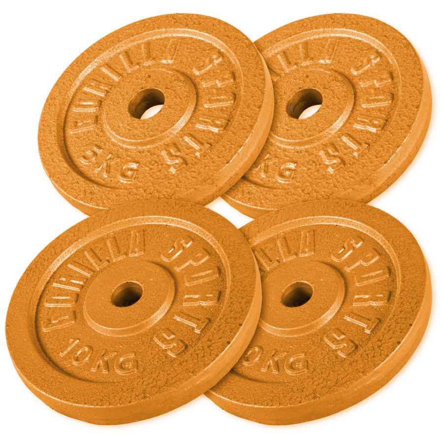 Voordeelbundel 30 kg (2 x 10 kg en 2 x 5 kg) Halterschijven Gietijzer Goud
