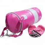 Bokszak 16 kg met handschoenen roze-100693844