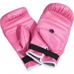Bokszak 16 kg met handschoenen roze-100693848