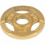 Halterschijf 2 kg (4 x 0,5 kg) Gripper Gietijzer Goud-100696760