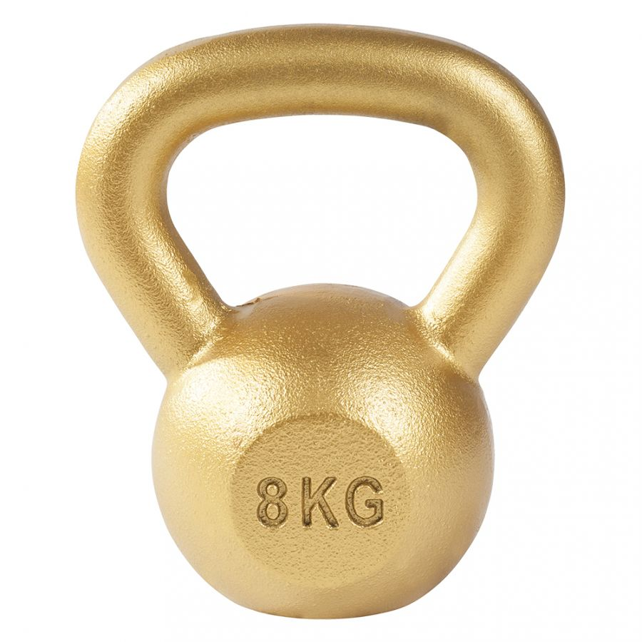 Kettlebell 8 kg Gietijzer Goud