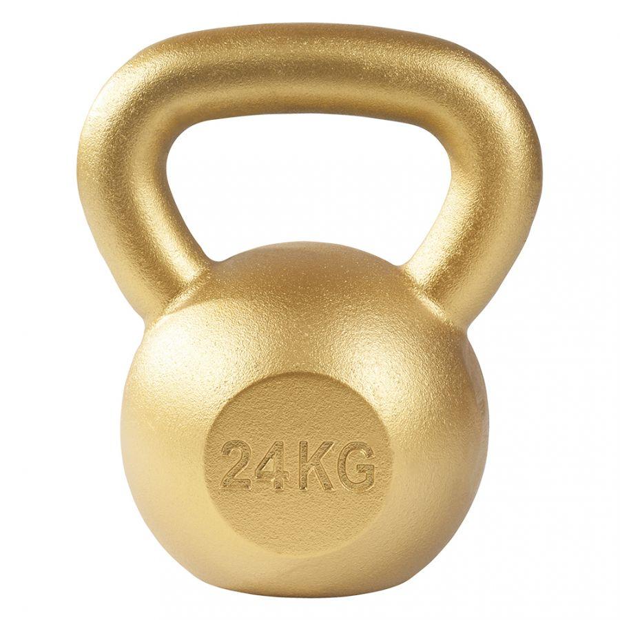 Kettlebell 24 kg Gietijzer Goud