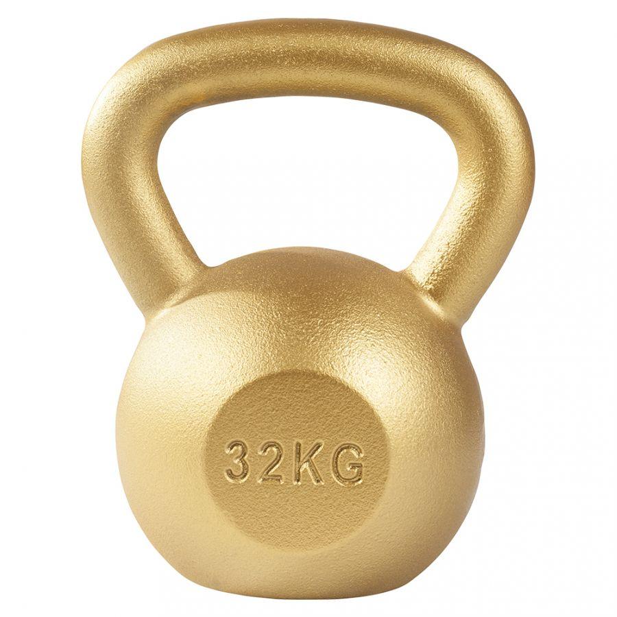 Kettlebell 32 kg Gietijzer Goud