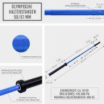 Olympische halterstang 220 cm (50/51 mm) -100700539