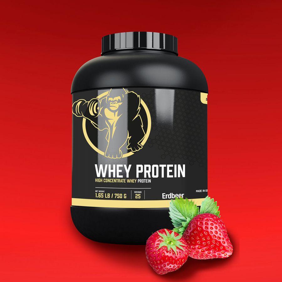 Gorilla Sports Whey Proteïne 750 g Aardbei
