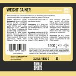 Gorilla Sports Weight Gainer 1,5 kg Chocolade-100702579