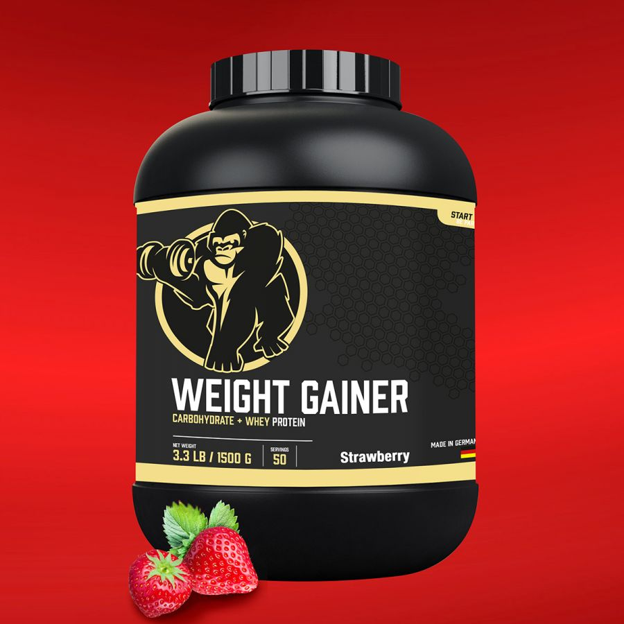 Gorilla Sports Weight Gainer 1,5 kg Aardbei