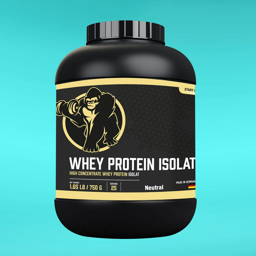 Gorilla Sports Whey Protein Isolaat Neutraal 750g