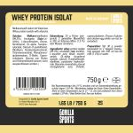 Gorilla Sports Whey Protein Isolaat Neutraal 750g-100702624