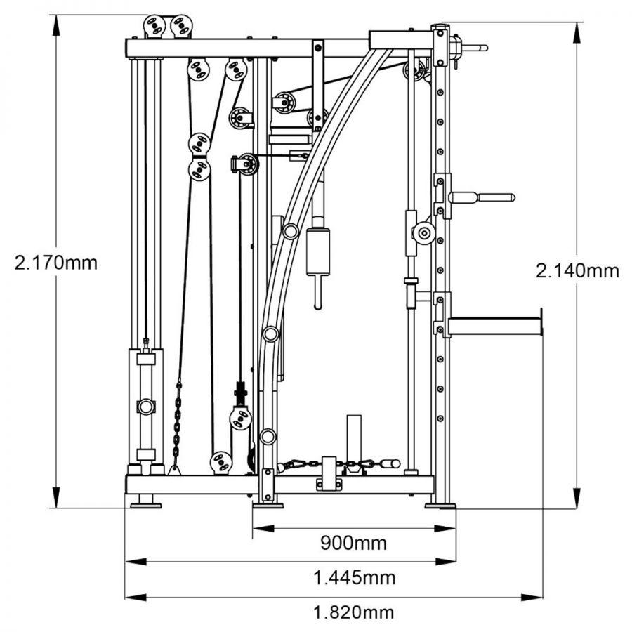 Multipress Smith Machine Maxxus 8.1