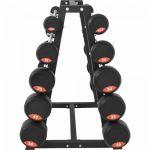 Set vaste halterstangen 282,5 kg inclusief standaard-100716220