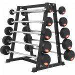 Set vaste halterstangen 282,5 kg inclusief standaard-100716221