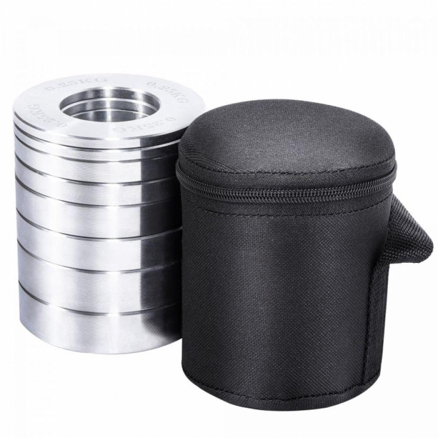 Halterschijven set 50/51mm Chroom 5 kg inclusief koffer