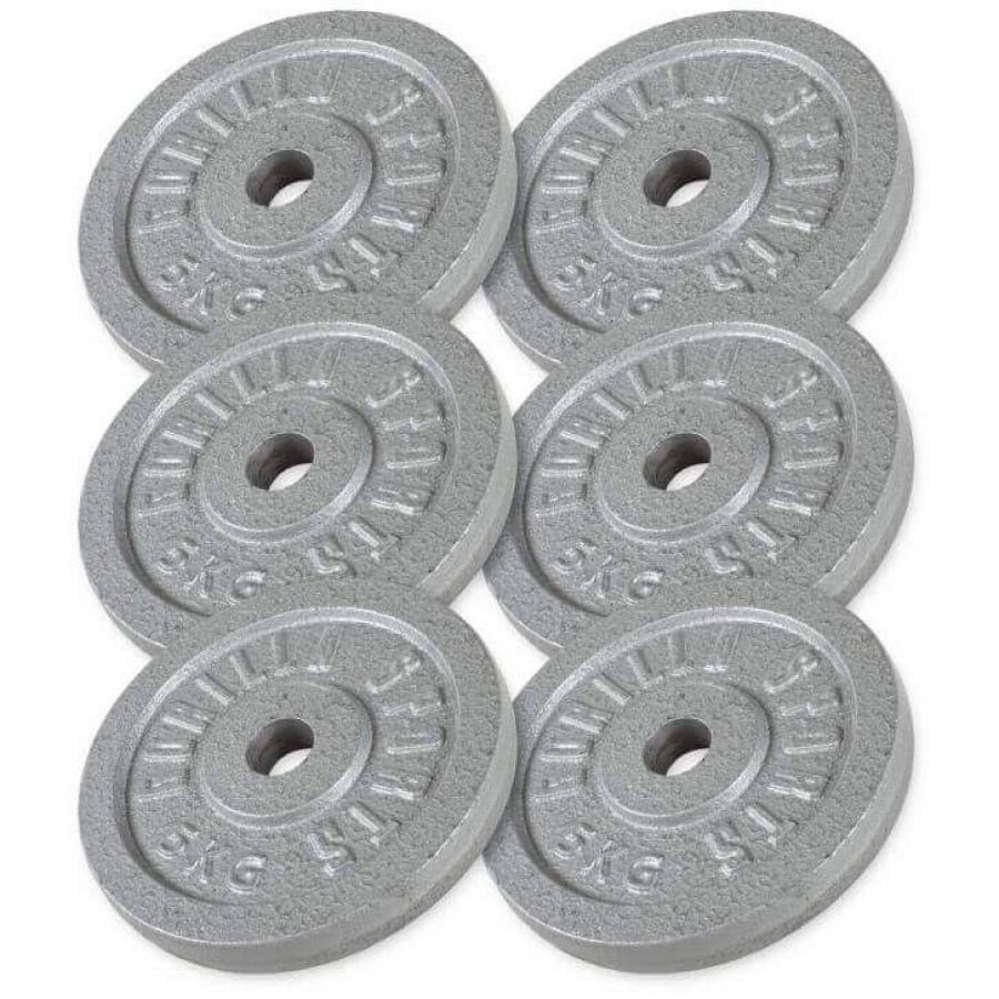Voordeelbundel 30 kg (6 x 5 kg) halterschijven Gietijzer