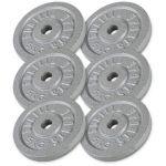 Voordeelbundel 30 kg (6 x 5 kg) halterschijven Gietijzer-100739778