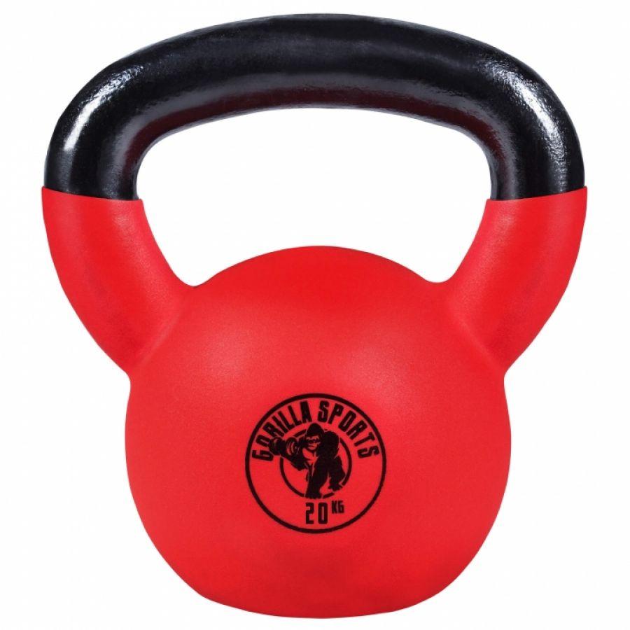 Kettlebell - Gietijzer (rubber coating) - 20 kg - Gorilla Sports