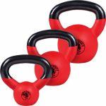 Voordeelset Kettlebells 4, 8 en 12 kg Rubber Coating-100739816