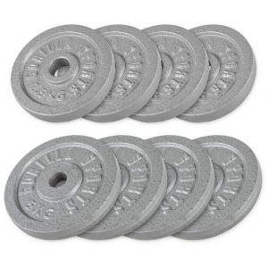Voordeelbundel 30 kg (4 x 5 kg en 4 x 2,5 kg) Halterschijven Gietijzer
