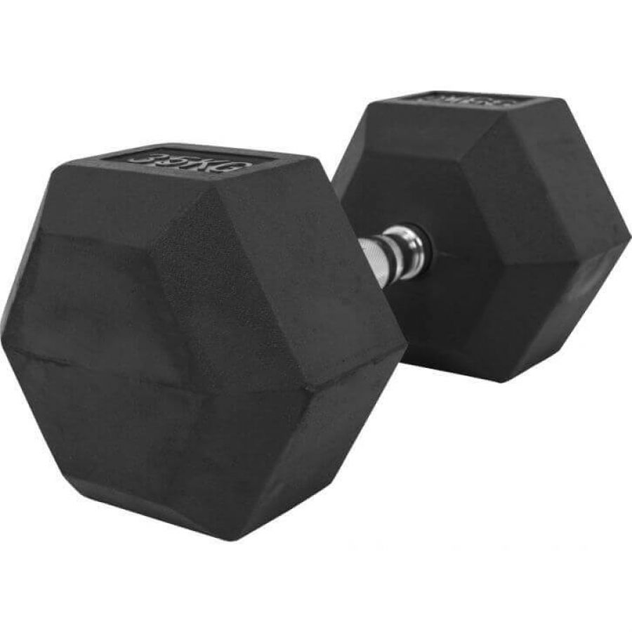 Dumbell 35 kg Hexagon Rubber