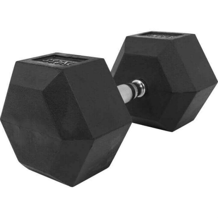 Dumbell 37,5 kg Hexagon Rubber