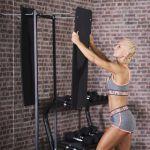 Yogamat 101 x 60 x 1 cm - Set van 2 inclusief Standaard-100751990