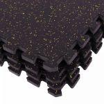 Rubber vloermatten (4 stuks) met spikkelpatroon-100752053