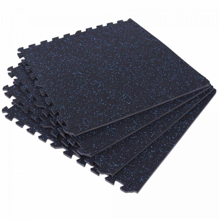Rubber vloermatten (4 stuks) met spikkelpatroon