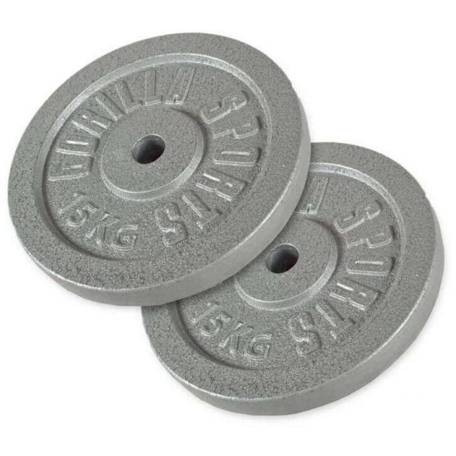 Voordeelbundel Halterschijven Gietijzer 2 x 15 kg