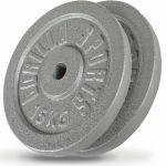 Voordeelbundel Halterschijven Gietijzer 2 x 15 kg-100752495