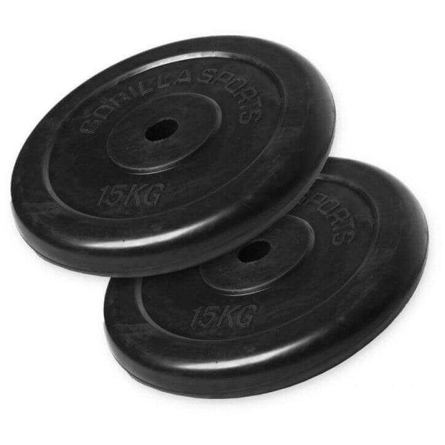 Voordeelbundel Halterschijven Rubber 2 x 15 kg