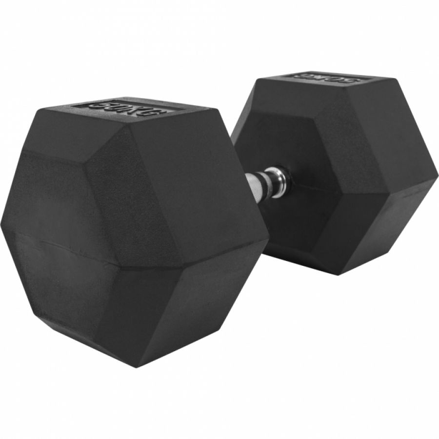 Dumbell 50 kg Hexagon Rubber