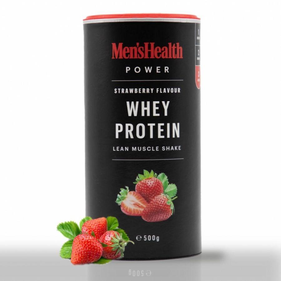 Mens Health Whey Protein Aardbei 500g