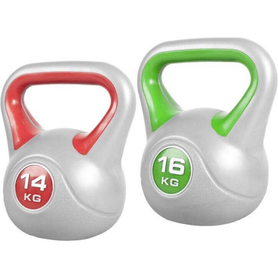 Voordeelset Kettlebells 14 en 16 kg Kunststof Trendy