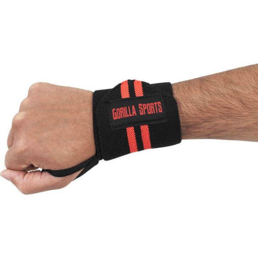 Polsbanden (elastisch katoen) Zwart/Rood