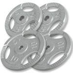 Outlet Deal Voordeelbundel 30 kg (2 x 10 kg en 2 x 5 kg) halterschijven Gripper -100756027