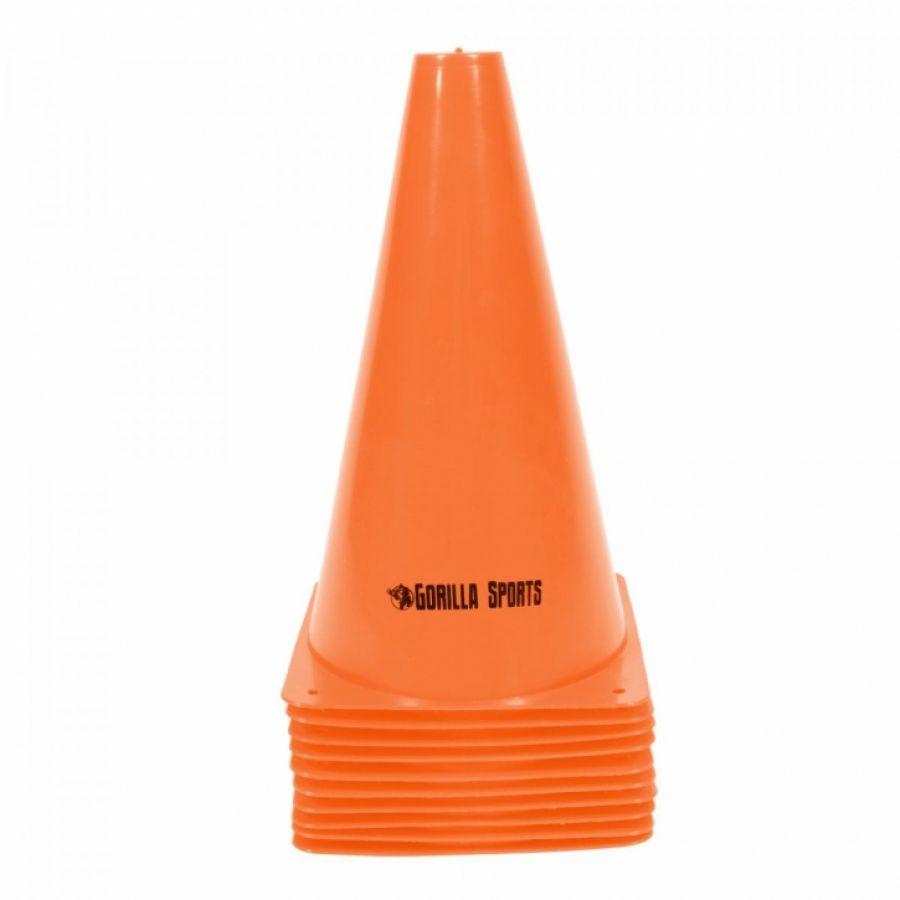 Set van 10 pionnen 23 cm oranje