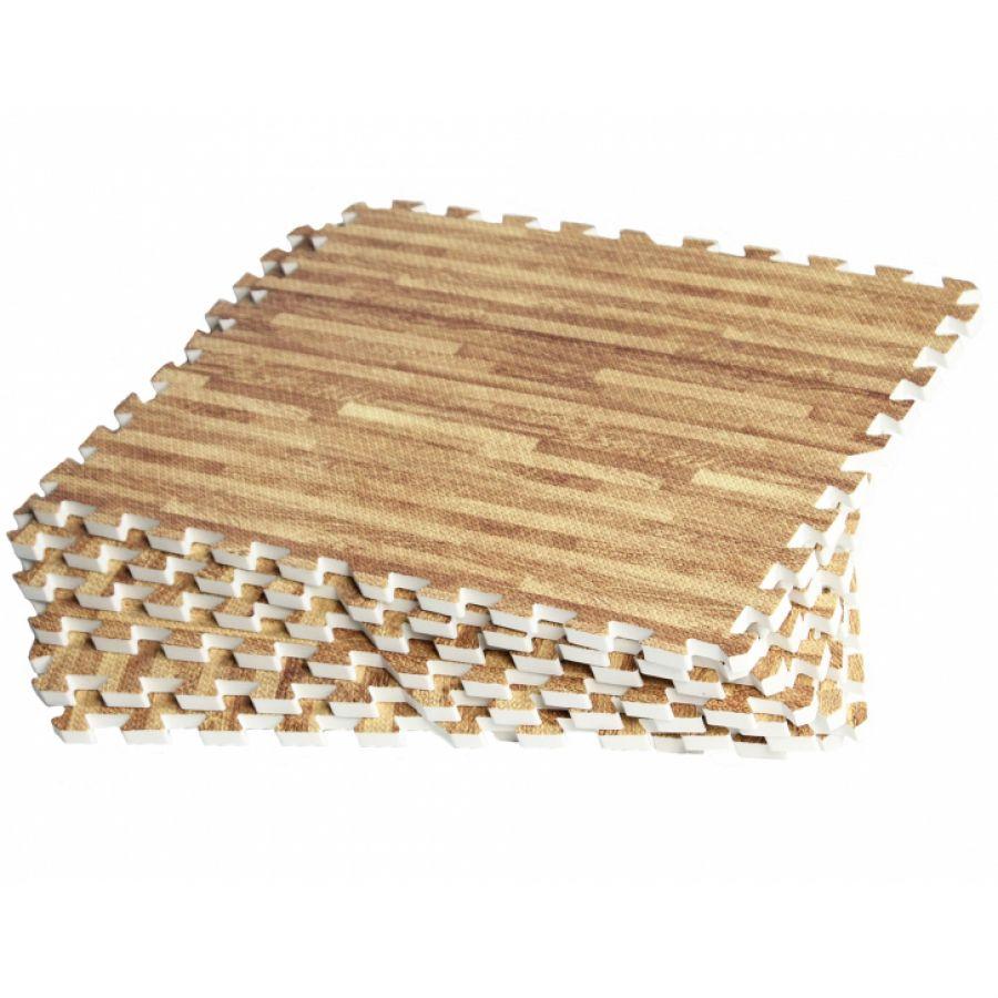 Sportschool Vloer Beschermingsmatten (8 stuks, totaal 2,88 m2) Lichte houtkleur