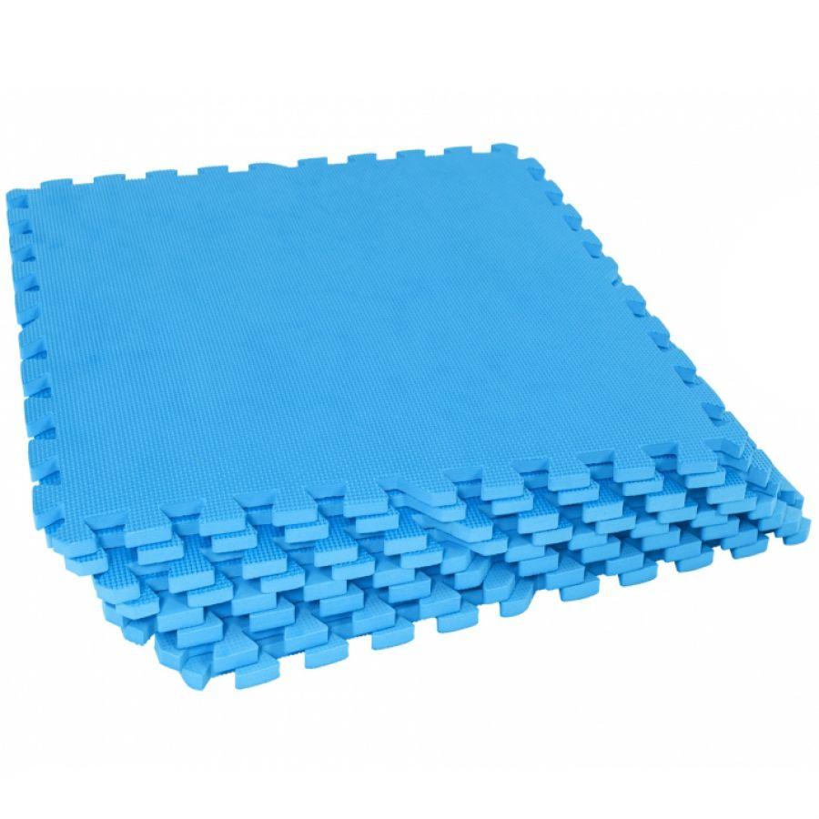 Sportschool Vloer Beschermingsmatten (8 stuks, totaal 2,88 m2) Blauw