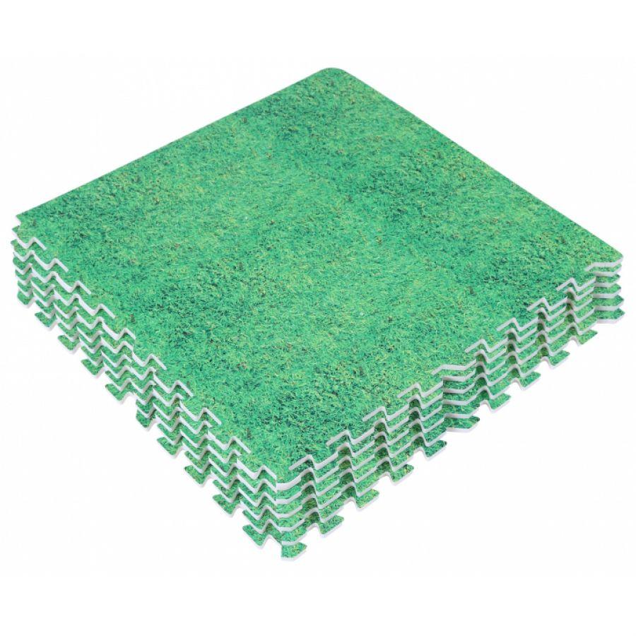 Sportschool Vloer Beschermingsmatten (8 stuks, totaal 2,88 m2) Groen (Gras)
