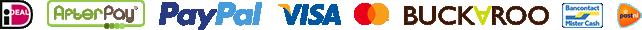 iDeal, AfterPay, Paypal, Visa, Mastercard, Maestro, Bancontact MisterCash, Buckaroo, Post.nl